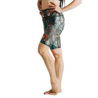 Yoga Democracy Biker Short - Green Thumb