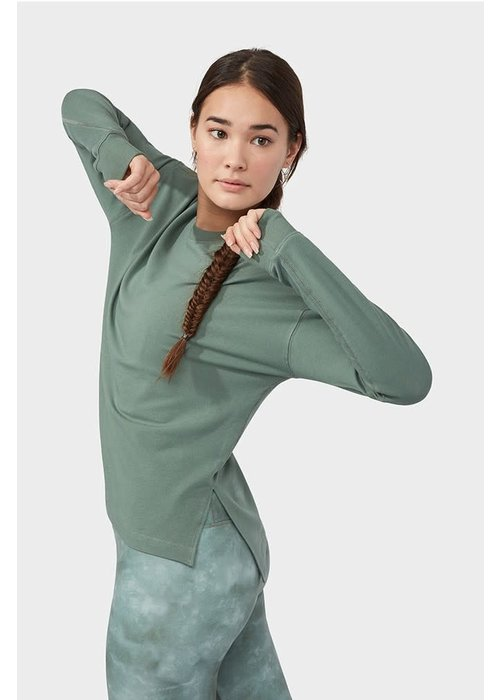 Manduka Manduka Performance Long Sleeve Sweatshirt - Laurel Wreath