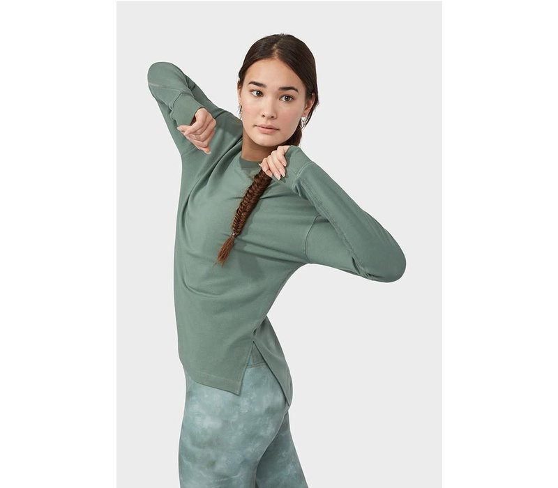 Manduka Performance Long Sleeve Sweatshirt - Laurel Wreath