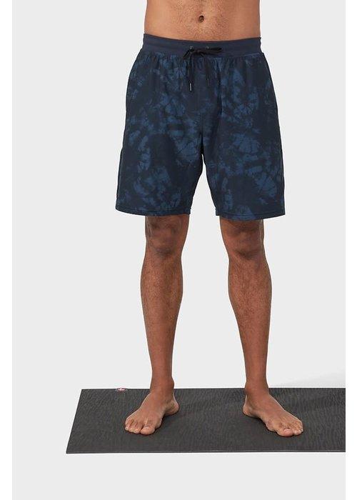 Manduka Manduka Performance Classic Rise Short - Navy Tie Dye