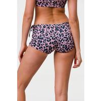 Onzie Side Tie Short - Rose Leopard