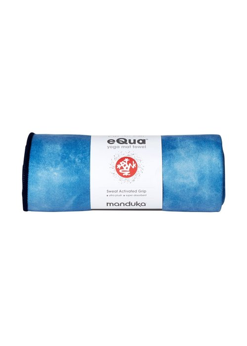 Manduka Manduka eQua Handdoek 182cm 67cm - Camo Tie Dye Blues