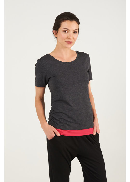 Asquith Asquith Bend It Tee - Dark Grey Marl