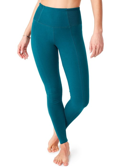 Mandala Mandala Slim Yoga Pants - Tropical Green