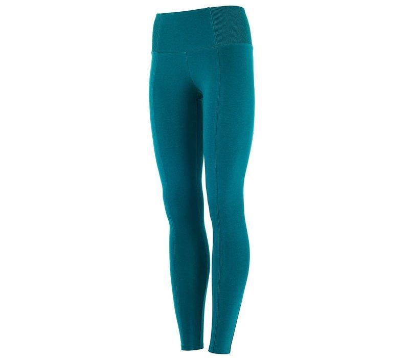 Mandala Slim Yoga Pants - Tropical Green