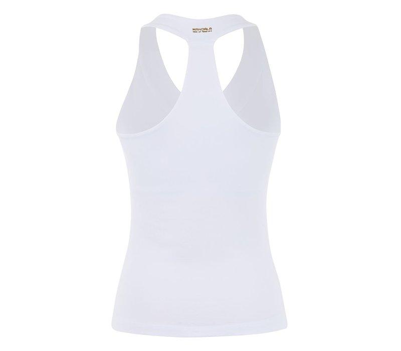 Mandala V-Neck Top - White