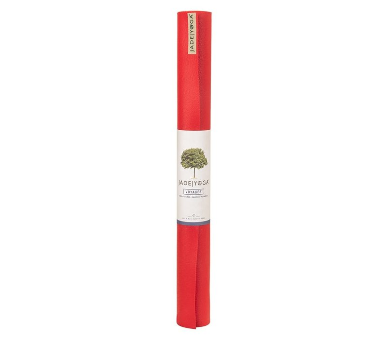 Jade Voyager Yoga Mat 173cm 60cm 1.5mm - Fire Engine Red