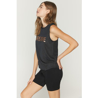 Spiritual Gangster Breathe Active Muscle Tank - Black