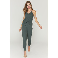 Spiritual Gangster Giselle Rib Jumpsuit - Dusty Olive