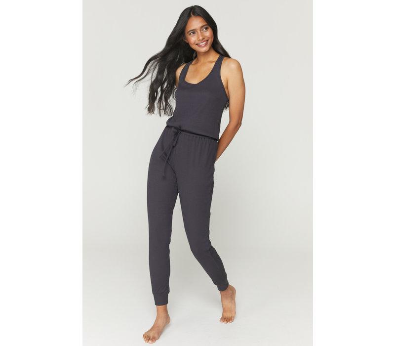 Spiritual Gangster Giselle Rib Jumpsuit - Vintage Black