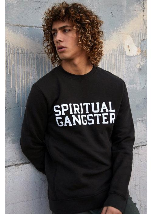 Spiritual Gangster Spiritual Gangster Varsity Pullover - Vintage Black