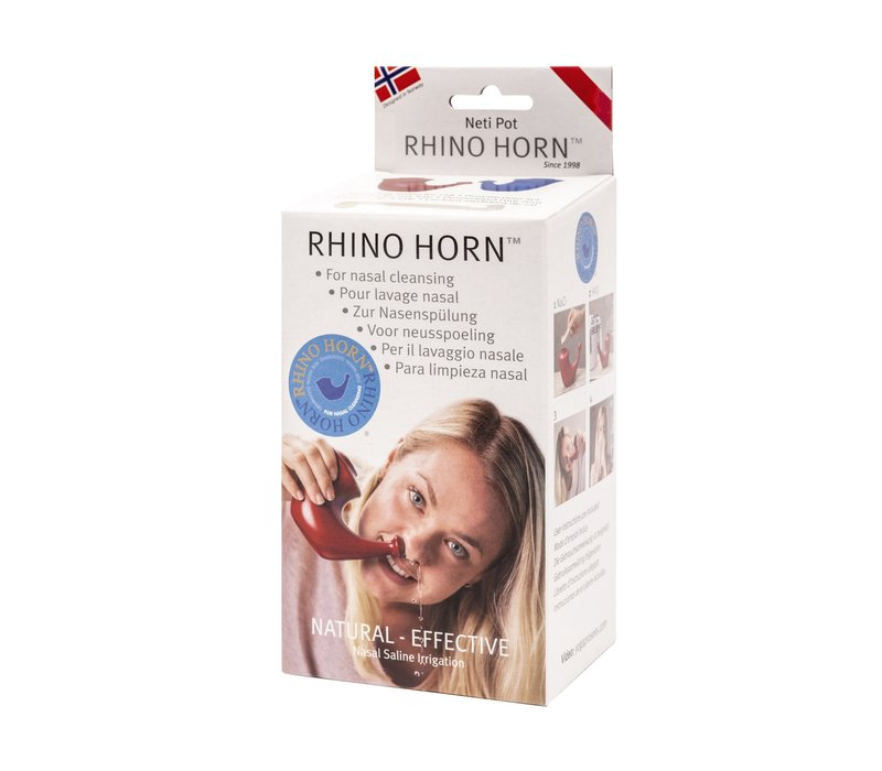 Neti Pot Rhino Horn - Red
