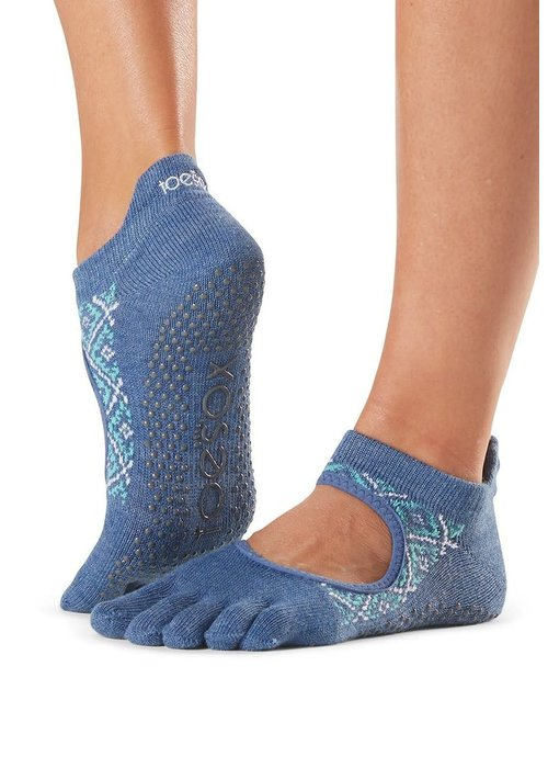 Toesox Toesox Yoga Sokken Bellarina Dichte Tenen - Baja