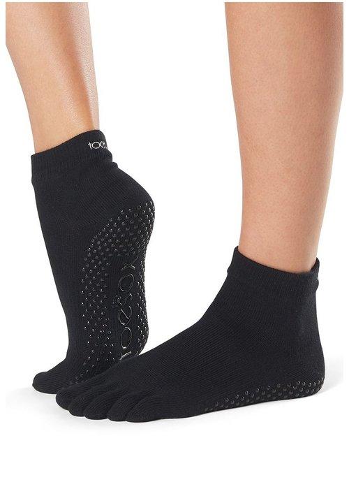 Toesox Toesox Yoga Sokken Enkelhoogte Dichte Tenen - Zwart