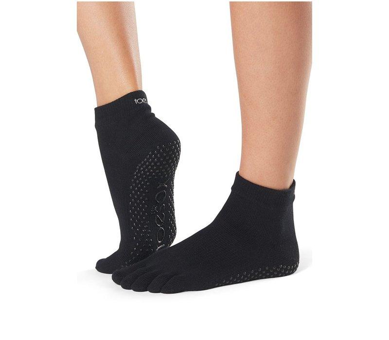 Toesox Yoga Sokken Enkelhoogte Dichte Tenen - Zwart