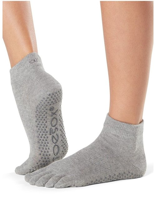 Toesox Toesox Ankle Full Toe - Heather Grey