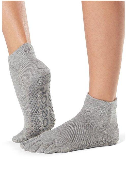 Toesox Toesox Yoga Sokken Enkelhoogte Dichte Tenen - Grijs
