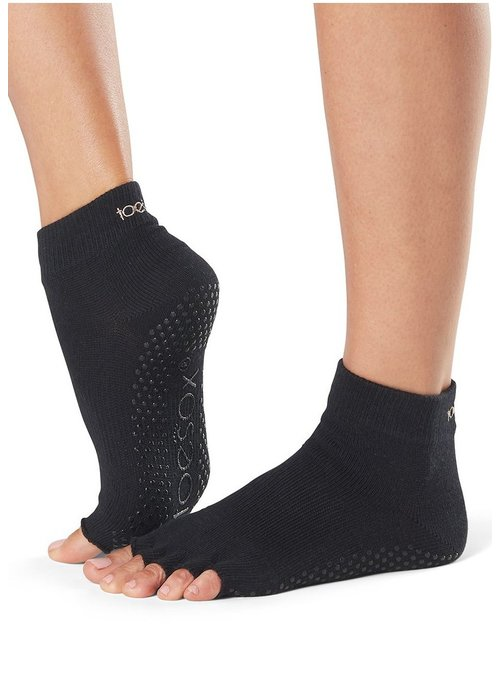 Toesox Toesox Ankle Half Toe - Black
