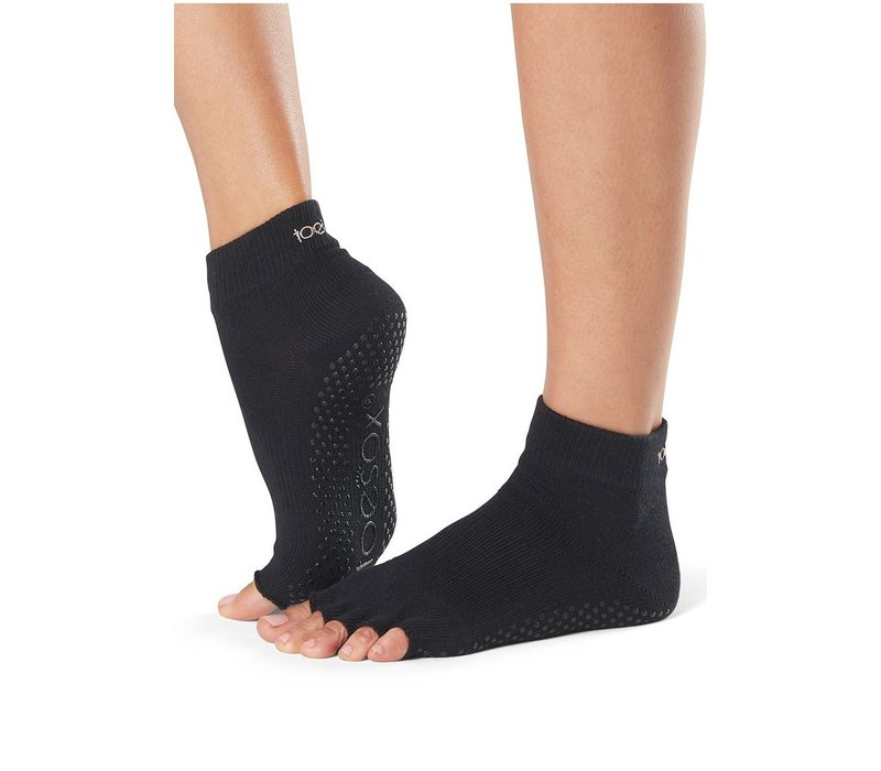 Toesox Ankle Half Toe - Black