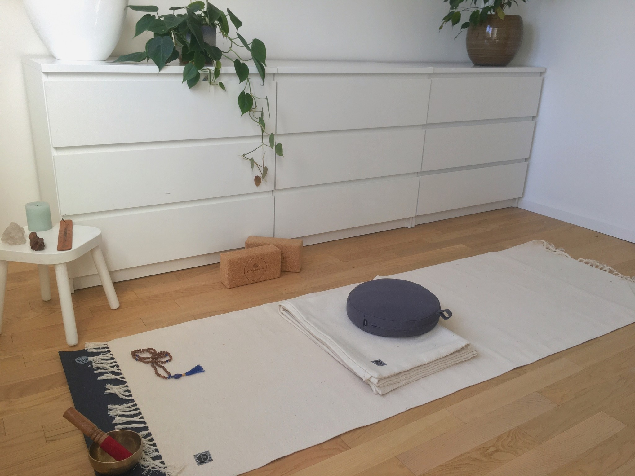 Creating a home yoga space
