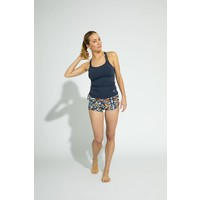 Shakti Activewear Double Cross Tank Top - Navy