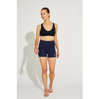 Shakti Activewear Mid Rise Shorts - Navy