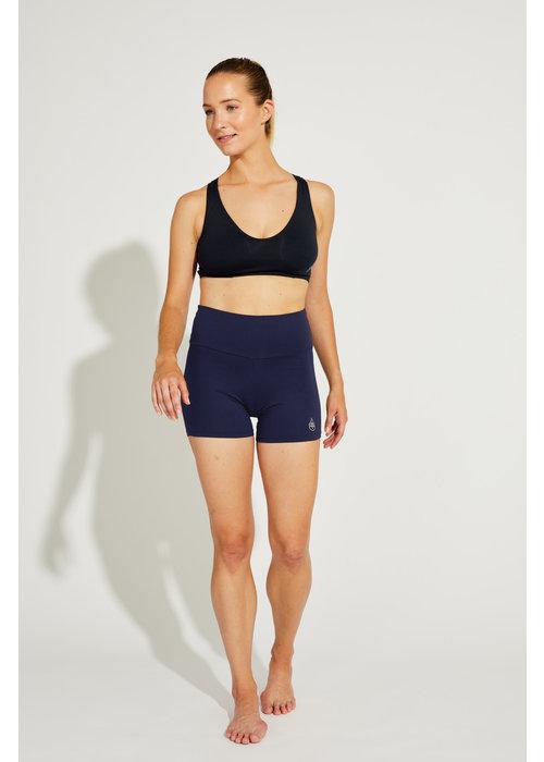 Shakti Activewear Shakti Activewear Mid Rise Shorts - Navy