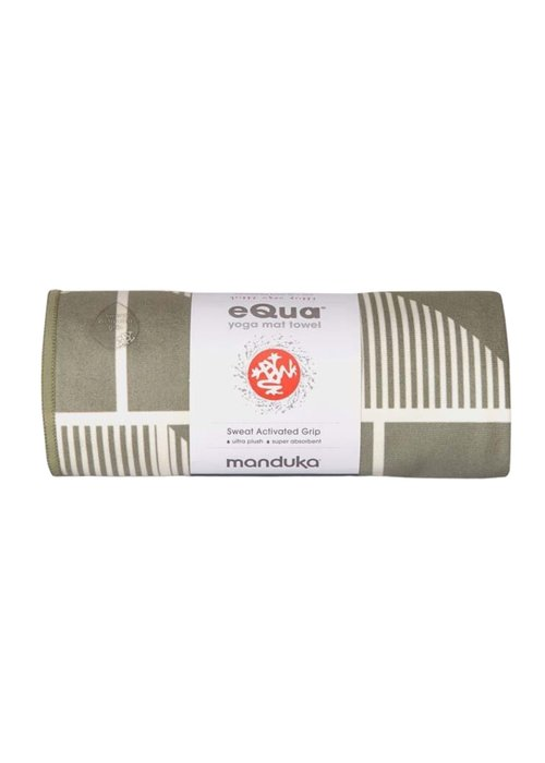 Manduka Manduka eQua Handdoek 182cm 67cm - Handloom Gray Hand Dye