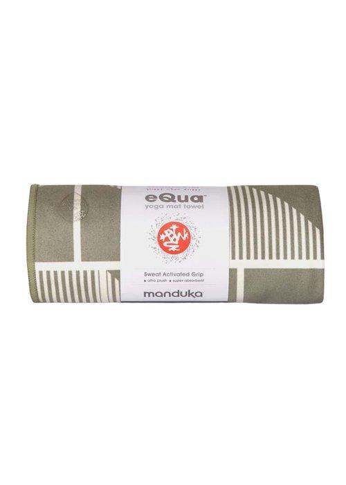 Manduka Manduka eQua Towel 182cm 67cm - Handloom Gray Hand Dye
