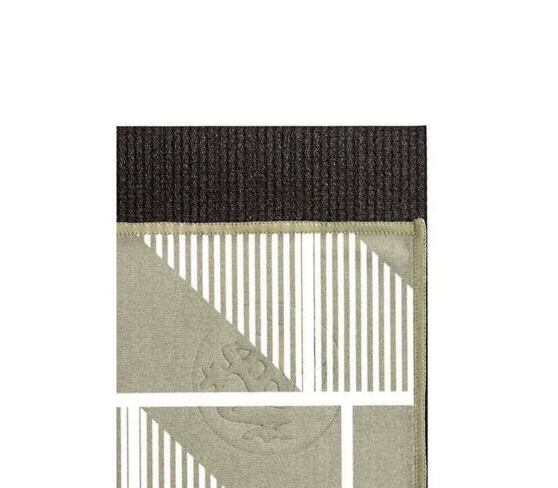 Manduka eQua Handdoek 182cm 67cm - Handloom Gray Hand Dye