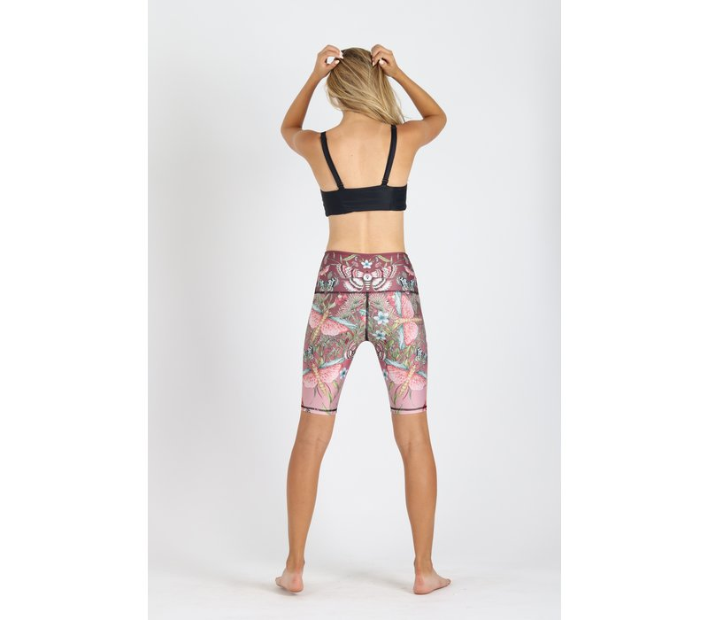 Yoga Democracy Biker Short - Pretty In Pink