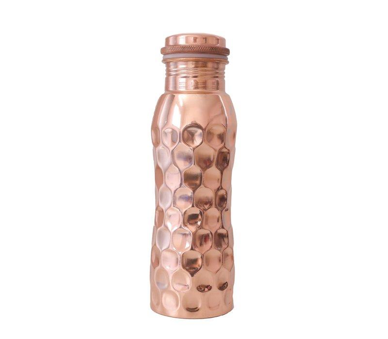 Forrest & Love Koperen Drinkfles 600ml - Diamond