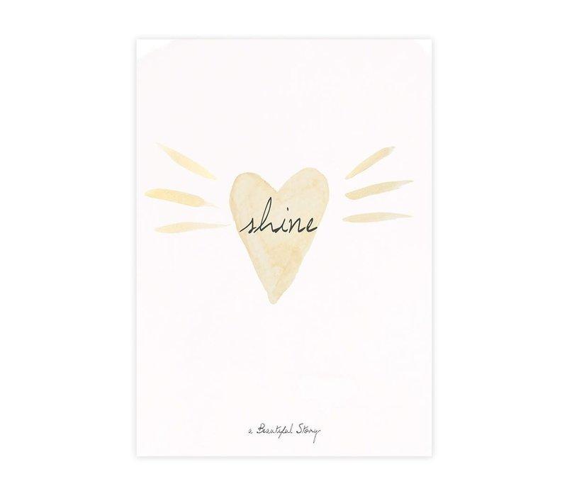 A Beautiful Story Ansichtkaart - Loveshine Watercolour