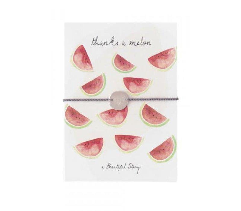 A Beautiful Story Schmuck Karte - Wassermelonen