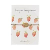 A Beautiful Story Schmuck Karte - Erdbeeren