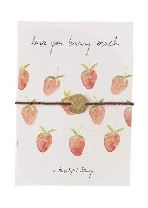 A Beautiful Story A Beautiful Story Sieraden Ansichtkaart - Strawberries