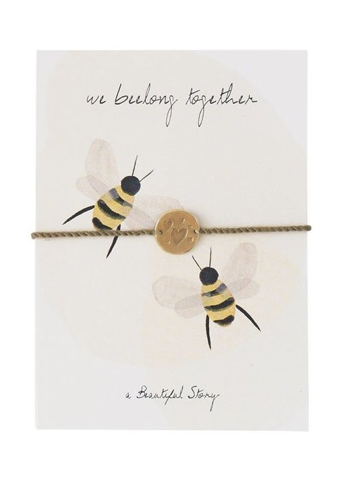 A Beautiful Story A Beautiful Story Sieraden Ansichtkaart - Bees