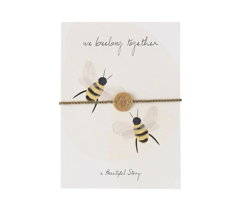 A Beautiful Story Schmuck Karte - Bienen