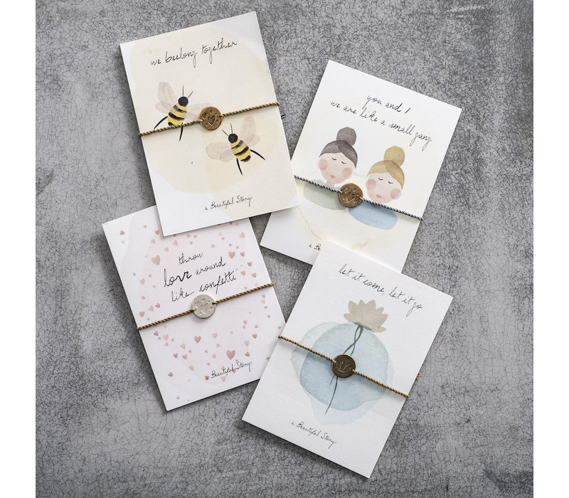 A Beautiful Story Jewelry Post Card - Bees