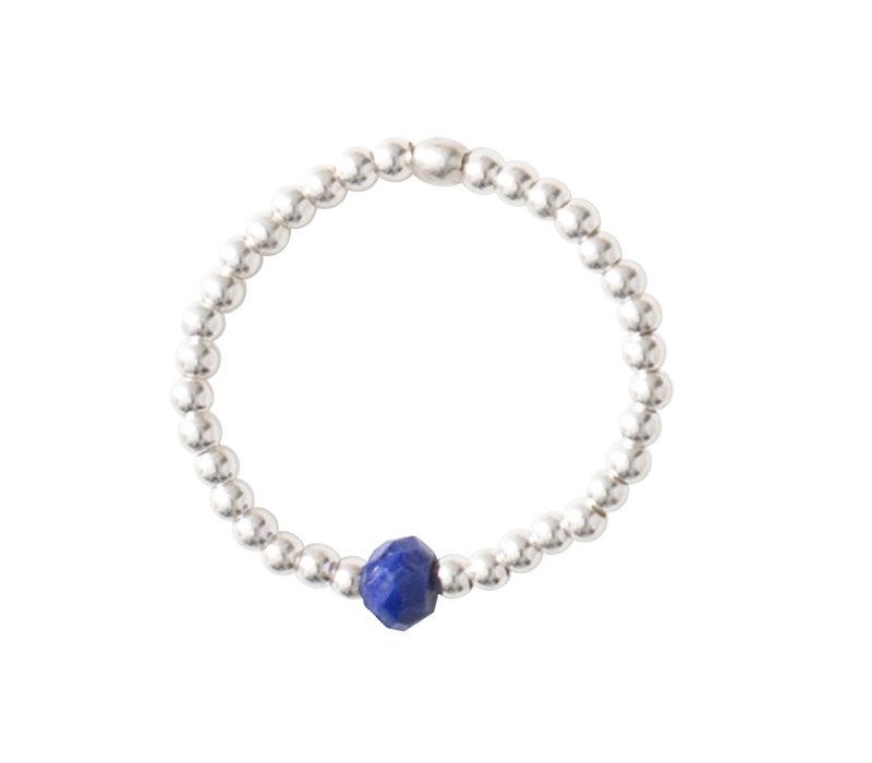 A Beautiful Story Sparkle Zilveren Ring - Lapis Lazuli