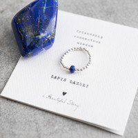 A Beautiful Story Sparkle Silber Ring - Lapis Lazuli