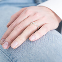 A Beautiful Story Sparkle Silber Ring - Rosenquarz