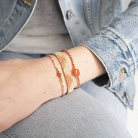 A Beautiful Story Iris Gold Bracelet - Carnelian