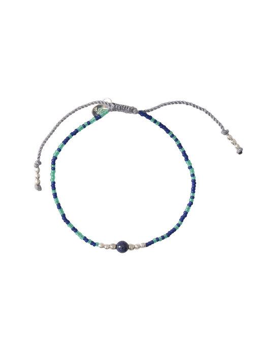 A Beautiful Story A Beautiful Story Iris Silver Bracelet - Lapis Lazuli