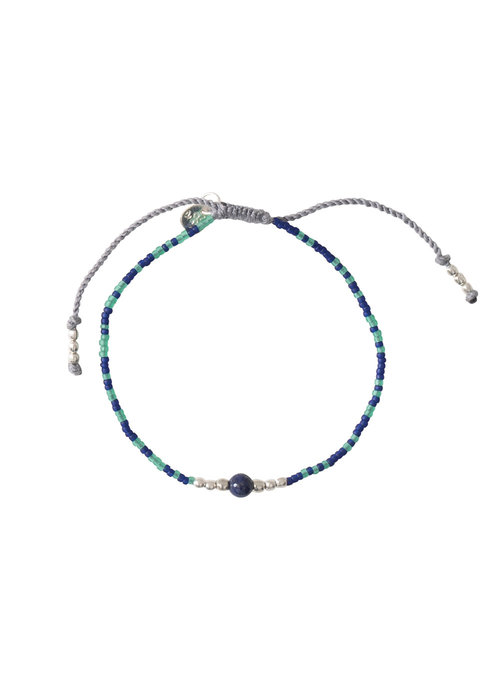 A Beautiful Story A Beautiful Story Iris Zilveren Armband - Lapis Lazuli