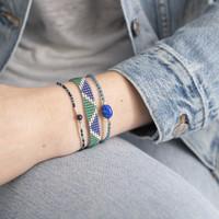 A Beautiful Story Iris Zilveren Armband - Lapis Lazuli
