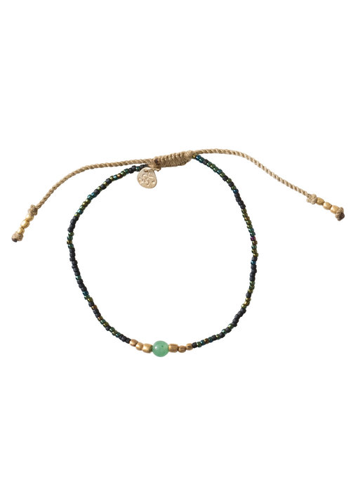 A Beautiful Story A Beautiful Story Iris Gold Bracelet - Aventurine