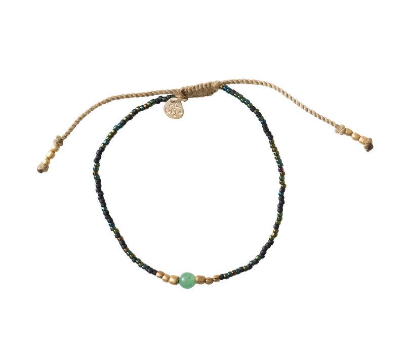 A Beautiful Story Iris Gold Bracelet - Aventurine