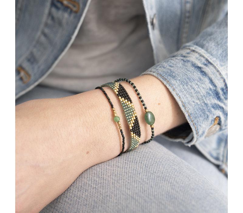 A Beautiful Story Iris Gouden Armband - Aventurijn