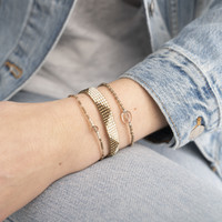 A Beautiful Story Iris Zilveren Armband - Rookkwarts